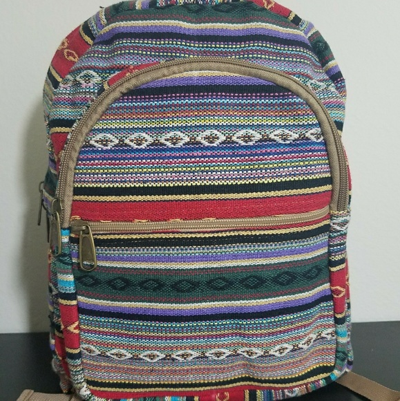 Bags   Brand New Handmade Cotton Boho Chic Backpack   Poshmark 4823aefb79